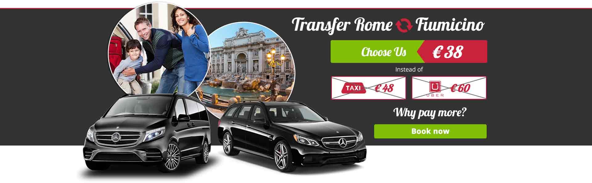 Transfer Low Cost aeroporto Fiumicino, Ciampino, Porto di Civitavecchia